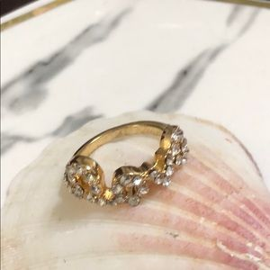 Love Pave 18K Gold Plated Ring